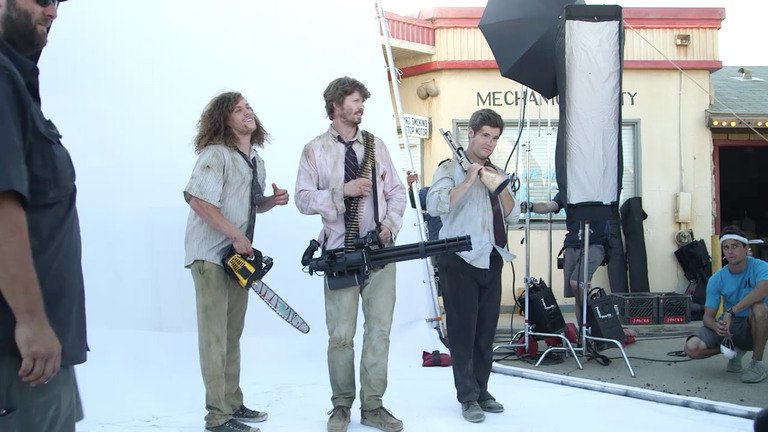 Workaholics cast members reflect on the wild acts they committed during filming. -
